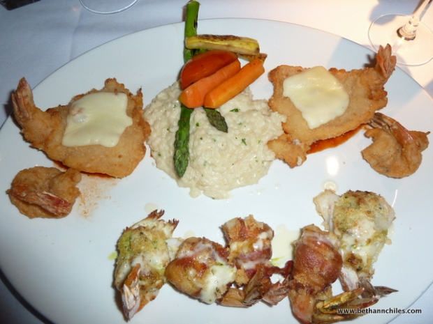 Shrimp 4 ways--unfortunately most of it was fried.