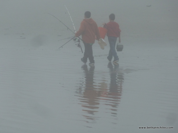 Perhaps my favorite picture of the day--two boys who gave up fishing and were going home.