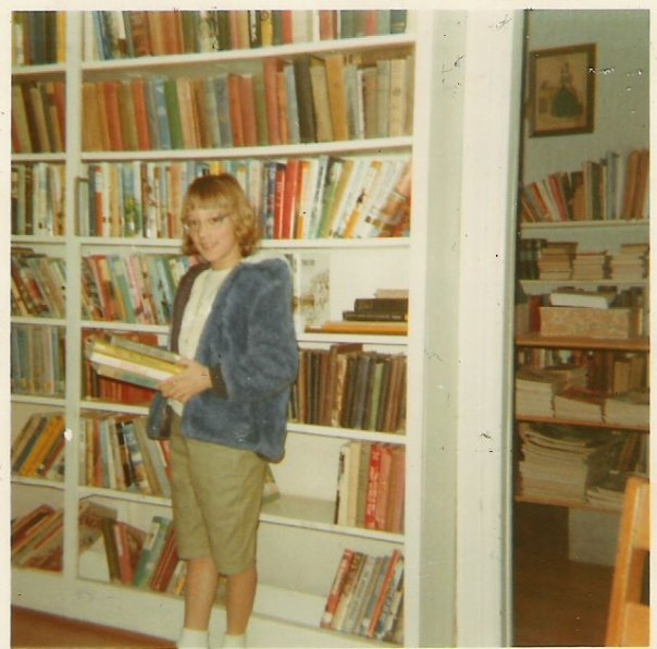 No picture of Mrs. Chandler but take at look at this one of me in the library at North Fairfield!!!  :-)