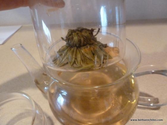 Tea ball after brewing