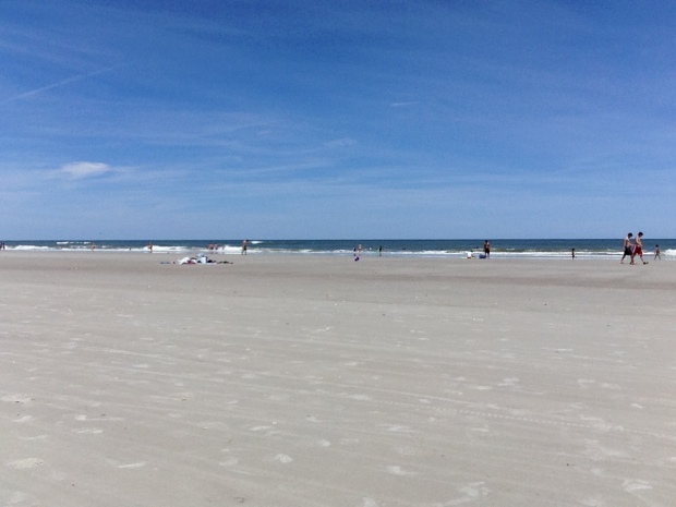 We managed 2 hours at the beach---just enough to feel good.