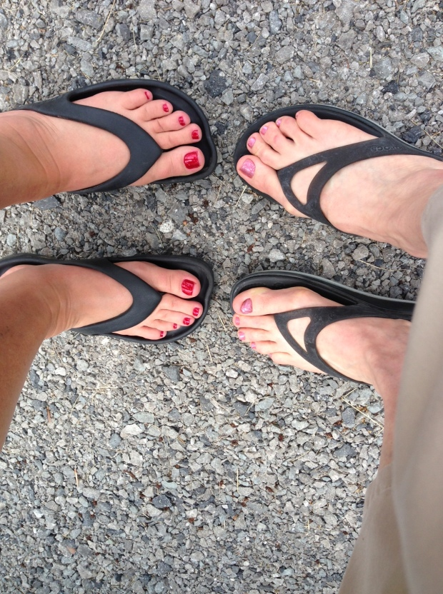 We took time out for a pedicure...