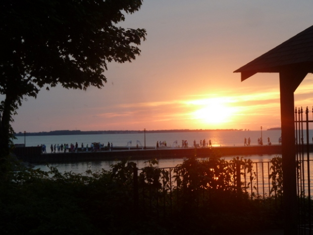 Spectacular sunsets on Lake Erie