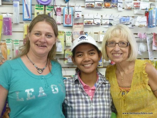Katie , Thavret and Doreen