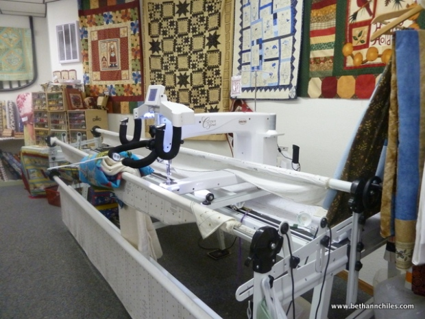 "The ""mack daddy"" of quilting machines!"
