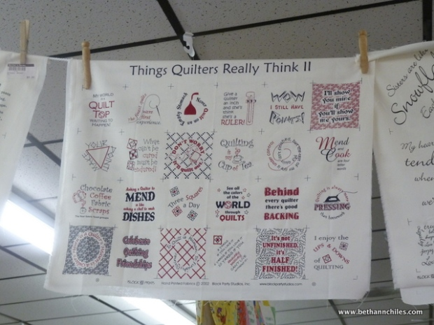 Things Quilters Really Think!
