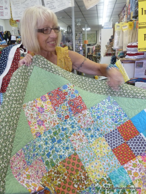 Doreen shows off one of her masterpieces !