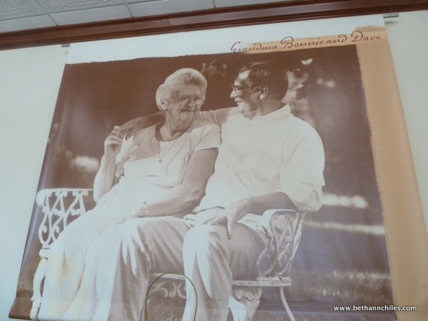 A wonderful picture of Grandma Bonnie and David Longaberger on display in a local store in Dresden.
