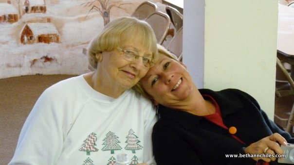 One of my favorite pictures of my mom and me taken a few years ago.