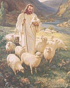 The Good Shepherd by Warner Sallman (Image fromhttp://picturesofjesus4you.com)