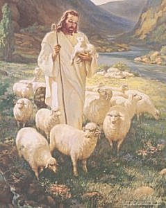 The Good Shepherd by Warner Sallman (Image fromhttp://picturesofjesus4you.com)