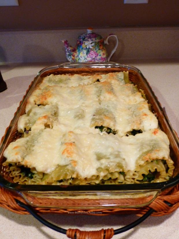 Florentine Lasagna Roll ups