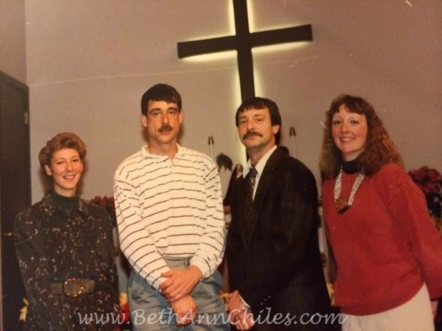 The Brown Siblings a few years ago.  (Cough cough) Yours truly, Mark, Chris and Paula