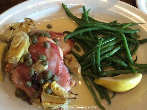 Chicken Andiamo with Lemon Green Beans