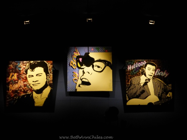 "At the back of the ballroom we are reminded of the tragic deaths of Buddy Holly, ""The Big Bopper"" and Ritchie Valens on February 2, 1959."