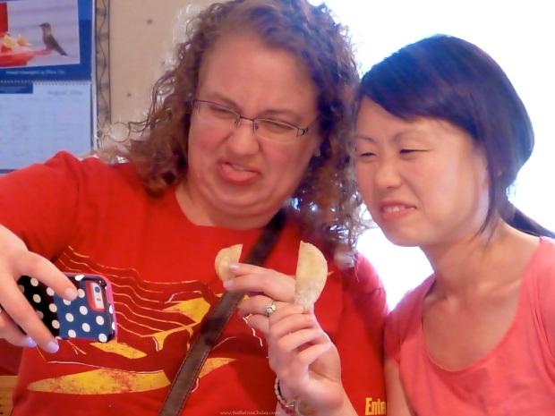 Donna and Jeni register their dislike!