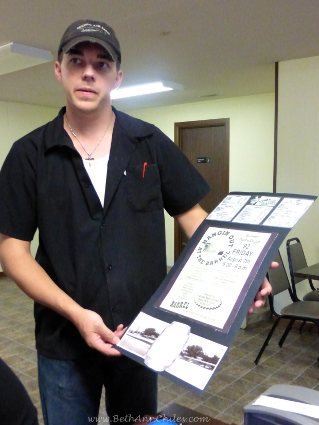 Seth showed us a lot of memorabilia from back in the day.  Pretty great history tied in with The Barrel