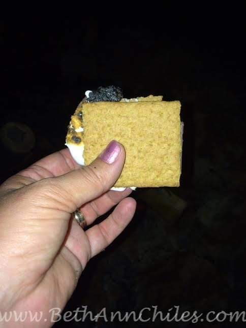 Who doesn't love a wedding where you can go outside to the bonfire and make your own s'more????