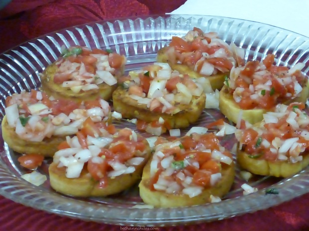 Bruschetta at Carlson Tree farm made by some great young ladies!