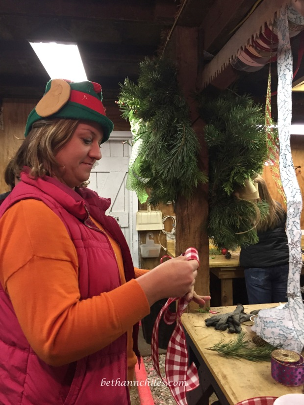 Beth makes pretty bows.